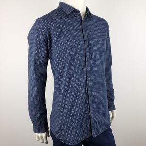 Armani Exchange Casual Blue Patterned Shirt Sz XXL